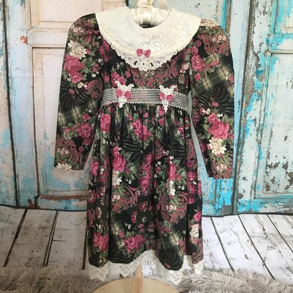 5363abcf837 Vintage Rare Editions Dress Floral Lace 90s. M 5adb35f4caab446c602af334